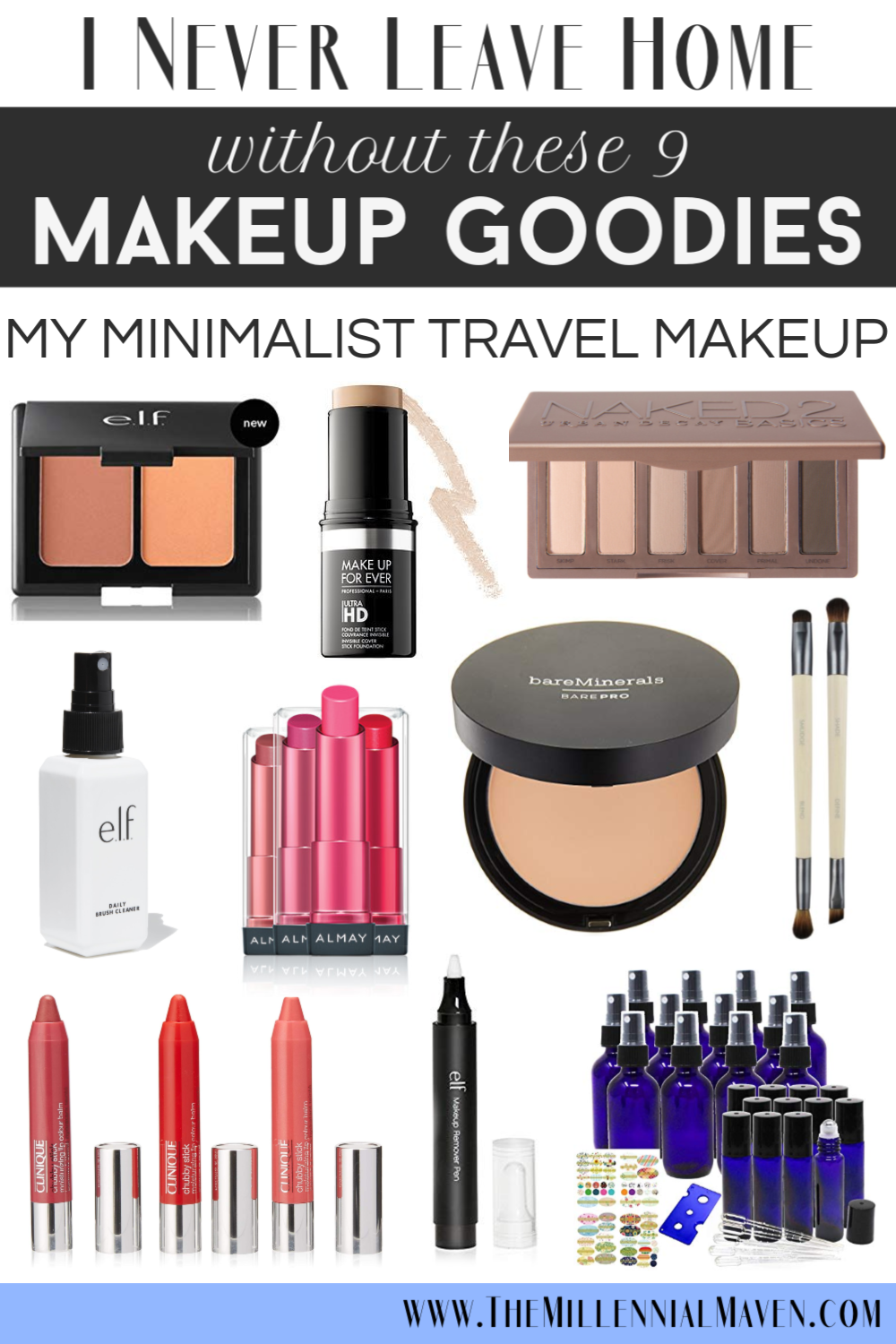 *UPDATED 2019* 9 Travel Makeup Must-Haves + Best Multi-Tasking Makeup