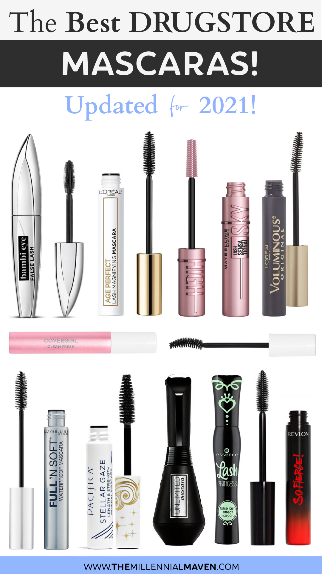 Top 10 Best Mascaras at the Drugstore in 2021! | Drugstore Mascaras