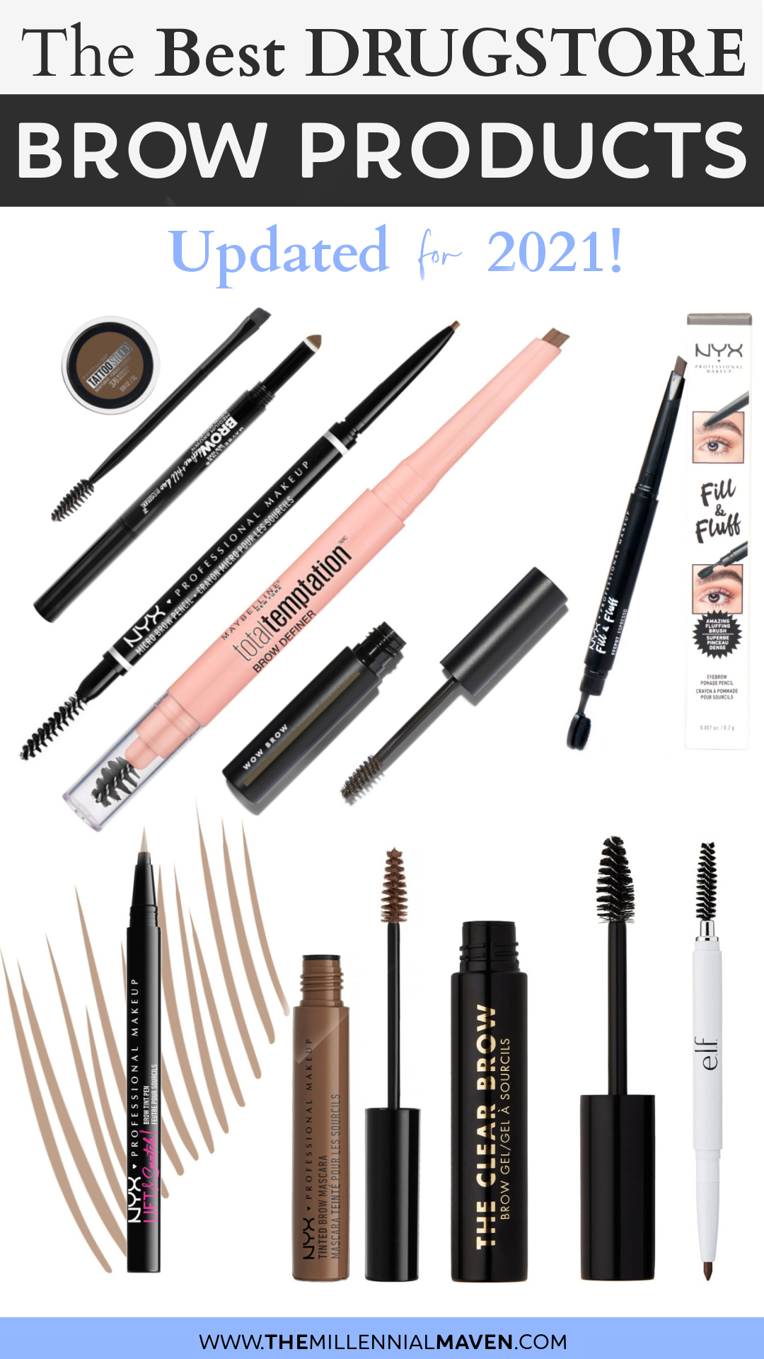 Top 10 Best Drugstore Eyebrow Products in 2021! | Best Drugstore Brow Products